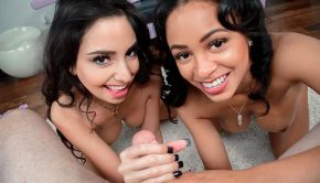trinity st clair and anya ivy double pov handjob