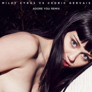 topless miley cyrus adore cover art